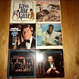 Vintage vinyl record lot (6)